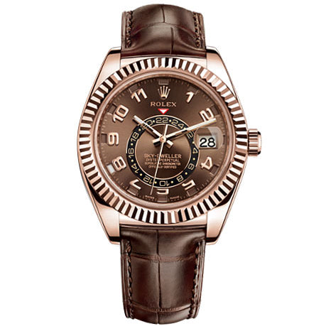 Rolex 326135 Skydweller with Chocolate Dial 18K Rose Gold