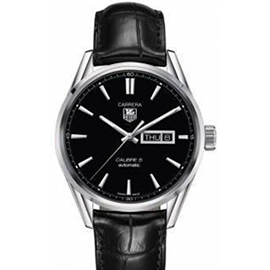 Tag Heuer Calibre Leather Automatic Mens Watch WAR201A.FC6266