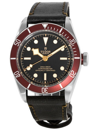 Tudor Heritage Black Bay with Red Bezel