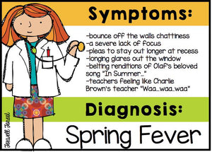 How to Survive Spring Fever - End of the Year Teacher Tips