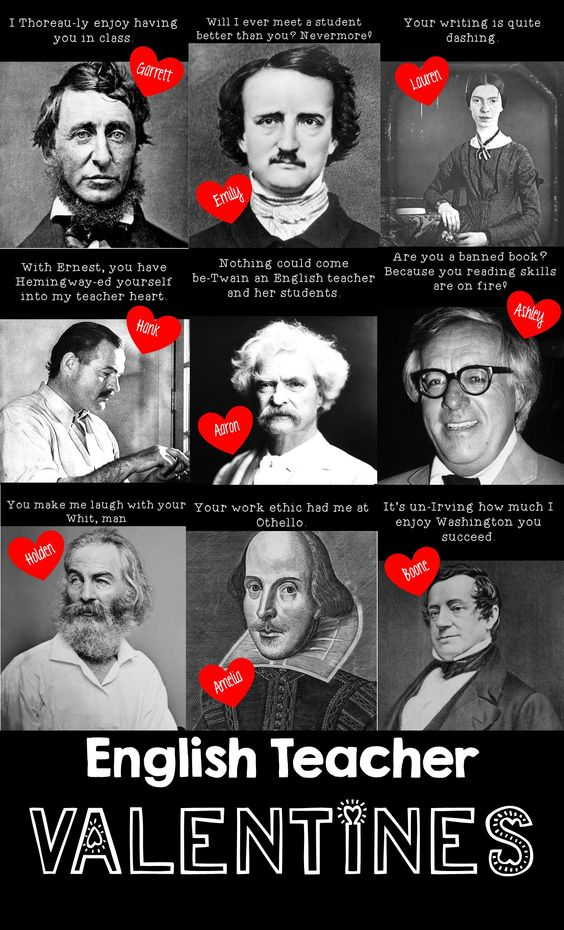 TEACHER MEME - Valentine's Day English Teacher Puns