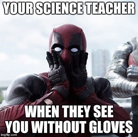 funny ryan reynolds science class meme as deadpool
