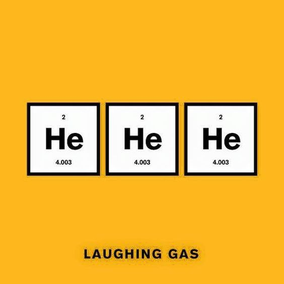 laughing gas science pun periodic table