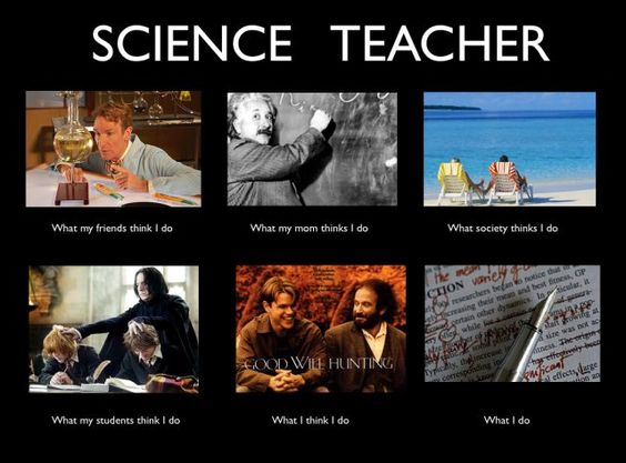 funny science teacher job meme