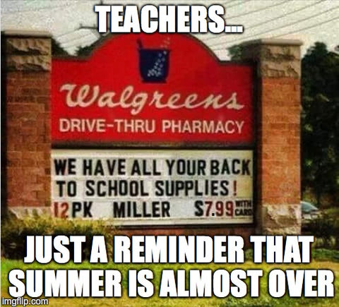 Back to school supplies meme