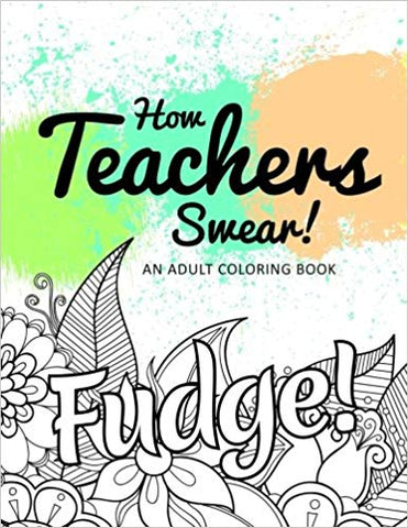 Funny coloring book for teachers