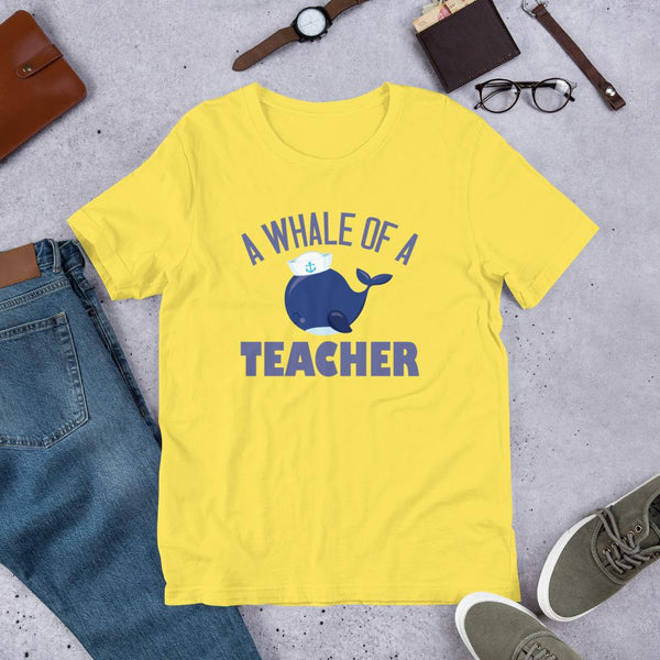 A Whale of a Teacher Unisex T-Shirt-Faculty Loungers