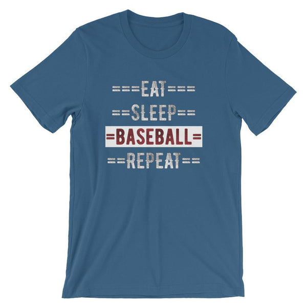 Baseball Coach Short-Sleeve Gift T-Shirt - Eat Sleep Baseball Repeat-Faculty Loungers