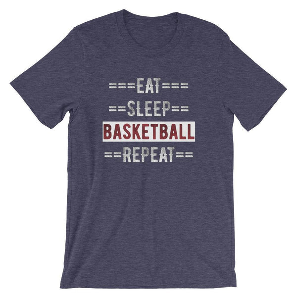 Basketball Coach Short-Sleeve Gift T-Shirt - Eat Sleep Basketball Repeat-Faculty Loungers
