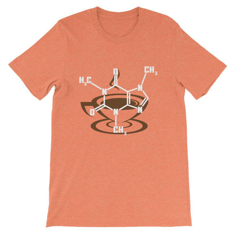 Caffeine Molecule Shirt for Coffee Loving Science Nerds-Faculty Loungers