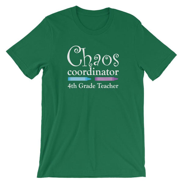Chaos Coordinator Fourth Grade Teacher Shirt-Faculty Loungers