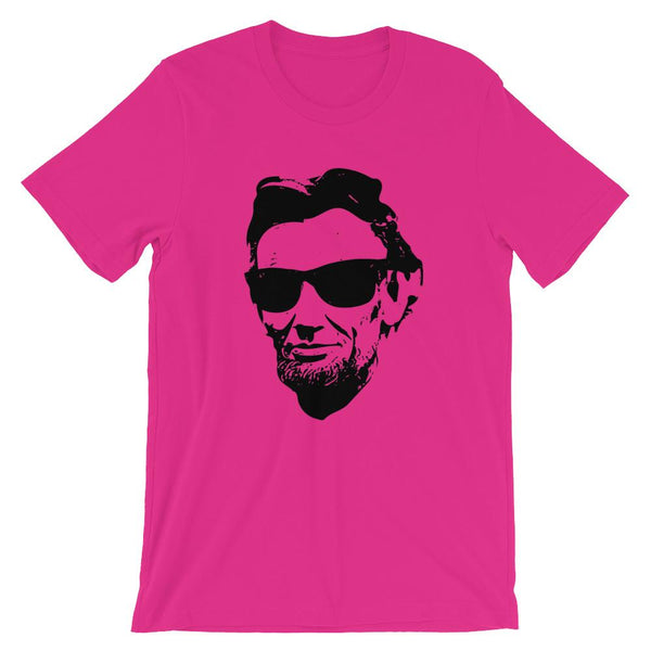 Cool Abraham Lincoln T-shirt with Sunglasses for History Teachers-Faculty Loungers