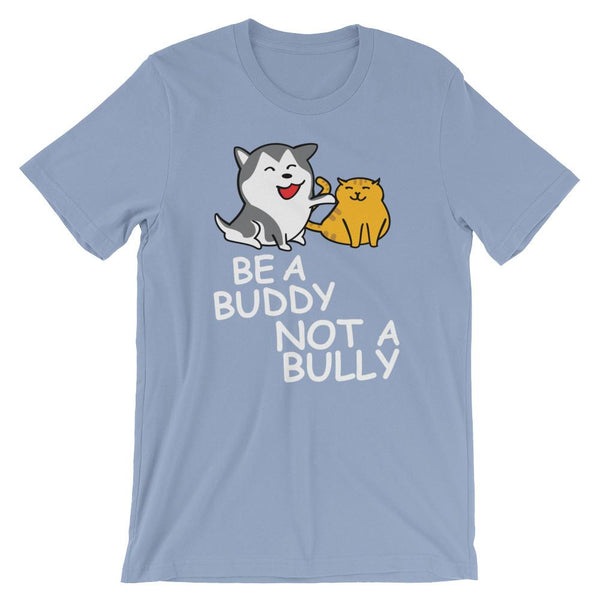 Cute Anti-Bullying Shirt for Teachers - Be a Buddy Not a Bully Cats and Dogs-Faculty Loungers