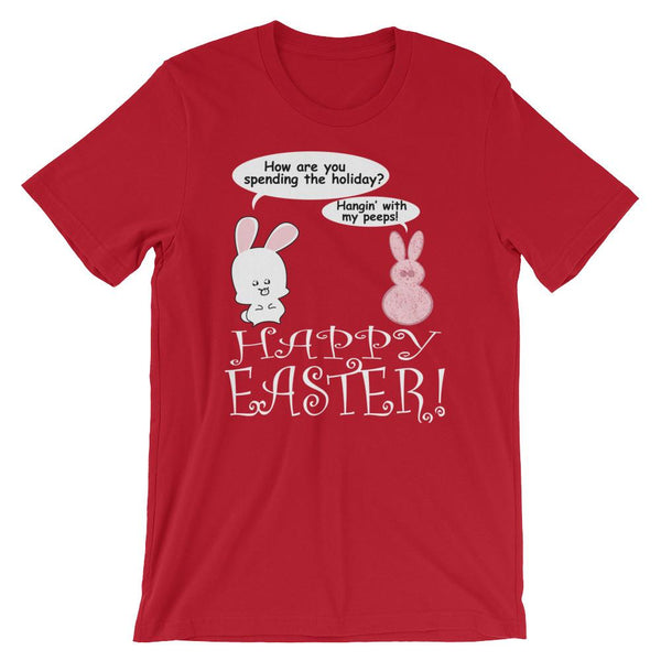 Cute Easter T-Shirt - Hanging With my Peeps-Faculty Loungers