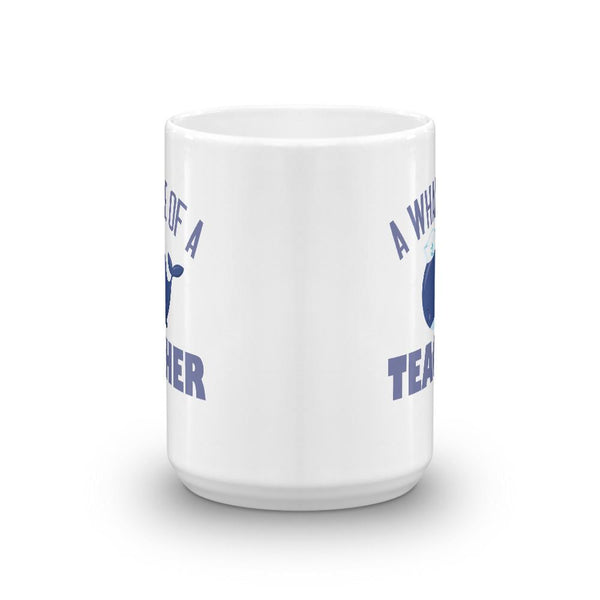 Cute Whale of a Teacher Coffee Mug-Faculty Loungers