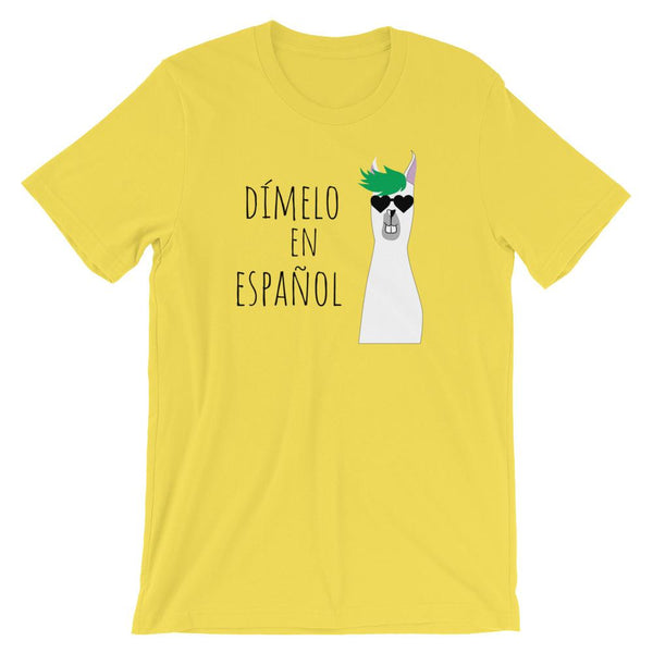 Dímelo en Español Shirt for Spanish Teachers-Faculty Loungers