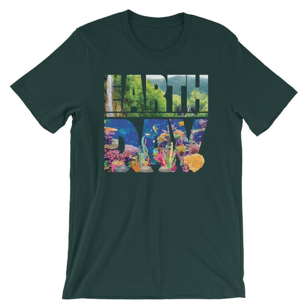 Earth Day T-shirt - Land and Sea Lettering-Faculty Loungers
