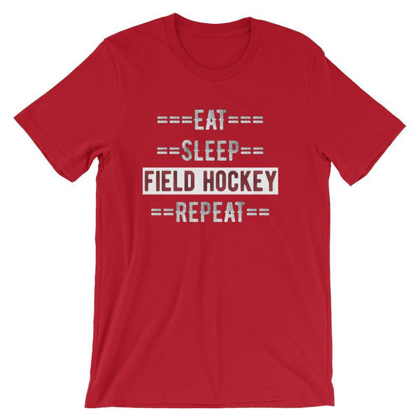 Field Hockey Coach Short-Sleeve Gift T-Shirt - Eat Sleep Field Hockey Repeat-Faculty Loungers