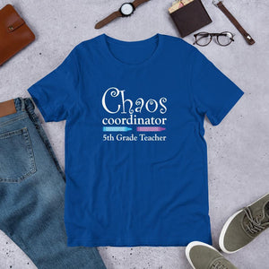 Fifth Grade Teacher Shirt Chaos Coordinator-Tee Shirt-Faculty Loungers Gifts for Teachers