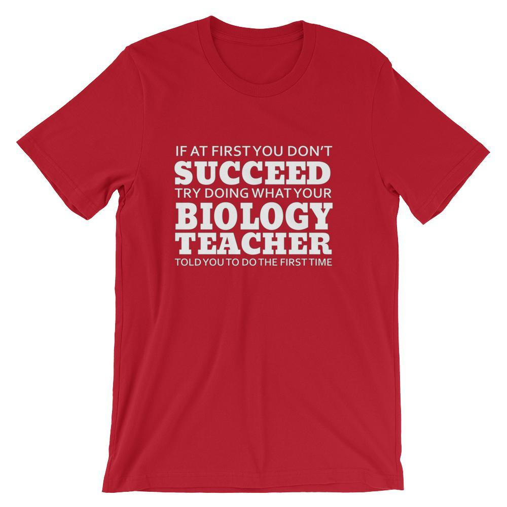 01b3411e8 Funny Biology Teacher Lesson T-Shirt   Faculty Loungers Gifts for ...