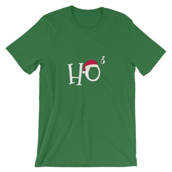 Funny Christmas Shirt for Math Teachers and Nerds, HoHoHo, Ho Cubed, Short-Sleeve Unisex T-Shirt-Faculty Loungers