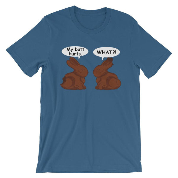 Funny Easter Bunny Chocolate Shirt-Faculty Loungers