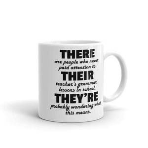 Funny Grammar Mug - Gift Idea for English Teachers-Faculty Loungers