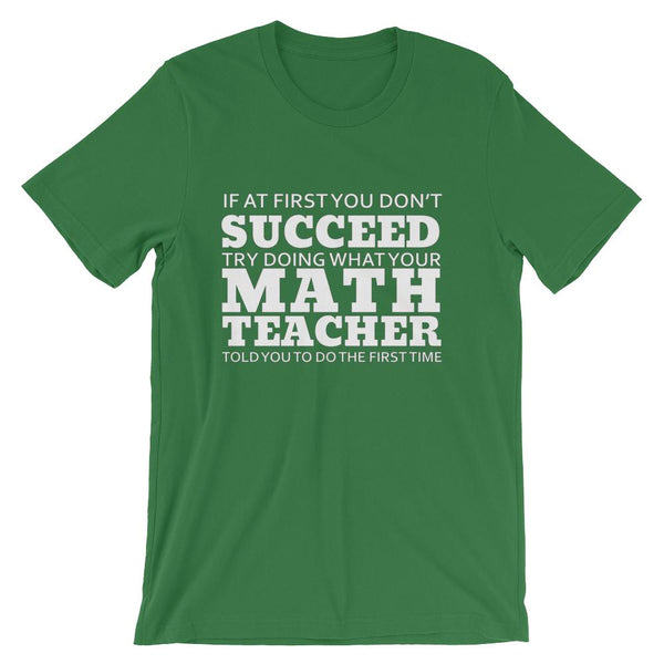 Funny Math Teacher Tee Shirt, Short-Sleeve Unisex T-Shirt-Faculty Loungers