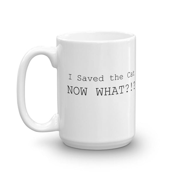 Funny Screenwriter Mug - Saved the Cat Already-Faculty Loungers