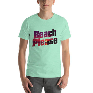 Funny Spring Break Shirt - Beach Please-Faculty Loungers