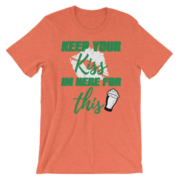 Funny St Patrick's Day Drinking Shirt - Keep Your Kiss-Faculty Loungers