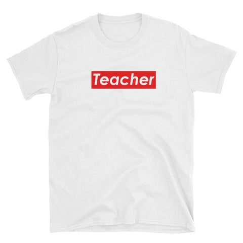 Funny Teacher Shirt - Supreme Parody-Faculty Loungers