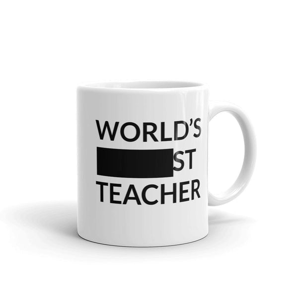 Funny Worlds Best Teacher Mug, or Okayest Teacher Gift-Faculty Loungers