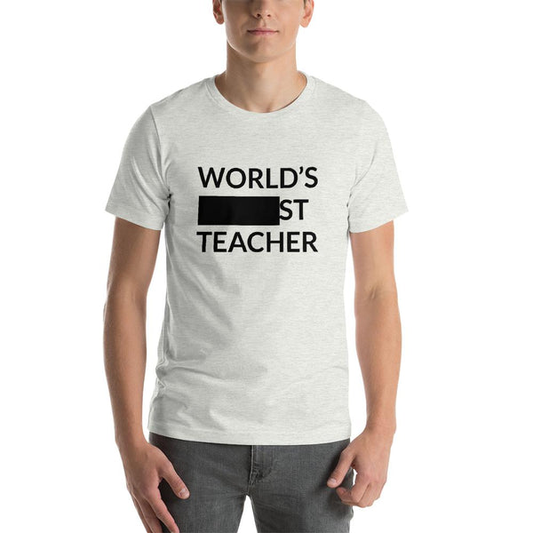 Funny World's Best Teacher Shirt or World's Okayest Teacher?-Faculty Loungers