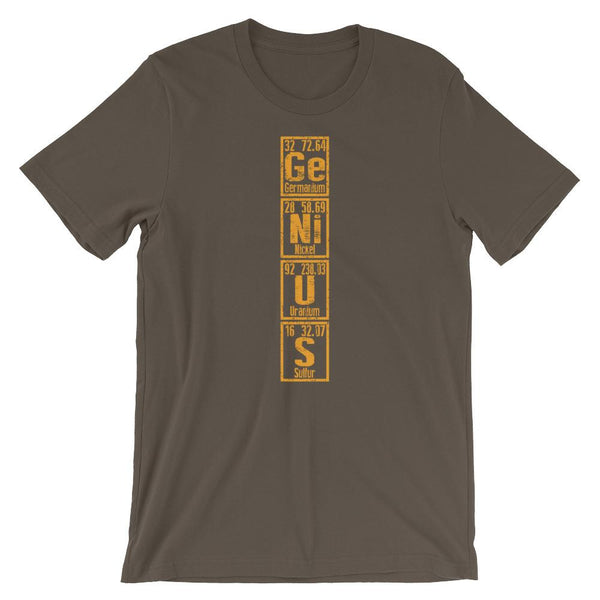 Genius Periodic Table Shirt-Faculty Loungers