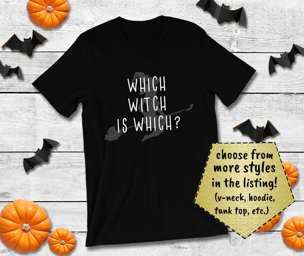 Halloween Homophone Shirt - Which Witch is Which?-Faculty Loungers