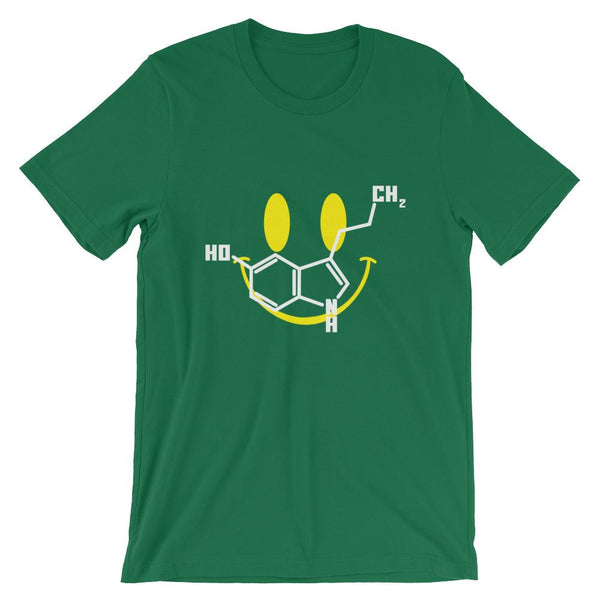 Happy Serotonin Molecule Shirt with Smile Emoji-Faculty Loungers