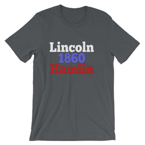 Historical Election Shirt for Teachers, Abraham Lincoln and Hannibal Hamlin 1860-Faculty Loungers