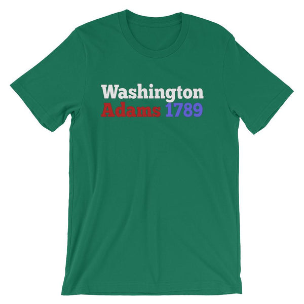 Historical Election Shirt for Teachers, George Washington & John Adams 1789-Faculty Loungers