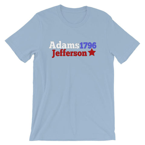 Historical Election Shirt for Teachers, John Adams and Thomas Jefferson-Faculty Loungers