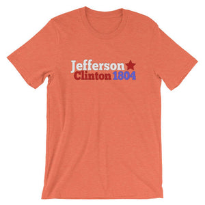 Historical Election Shirt for Teachers, Thomas Jefferson and George Clinton 1804-Faculty Loungers