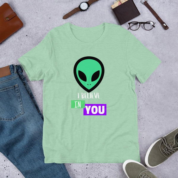 I Believe in You - Inspiring Alien T shirt-Faculty Loungers
