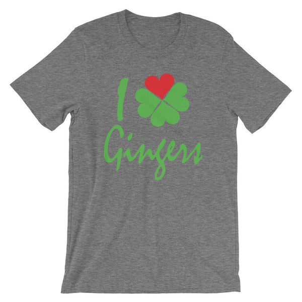 I Heart Gingers Shirt - St Patrick's Day Tee for Redheads and Ginger Lovers-Faculty Loungers