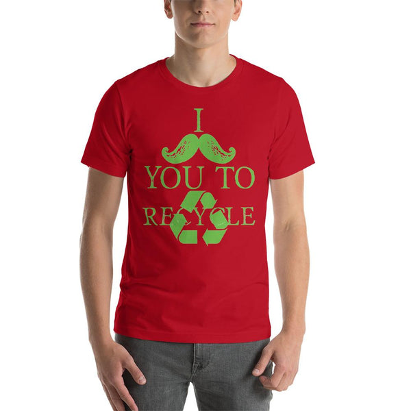 I Mustache You to Recycle - Earth Day Shirt-Faculty Loungers