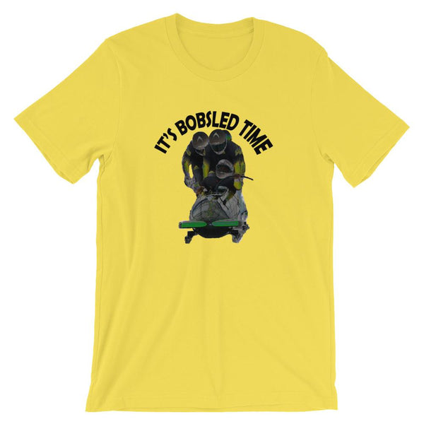 Jamaica Olympics Bobsled Shirt - It's Bobsled Time, 1988 Olympics-Faculty Loungers