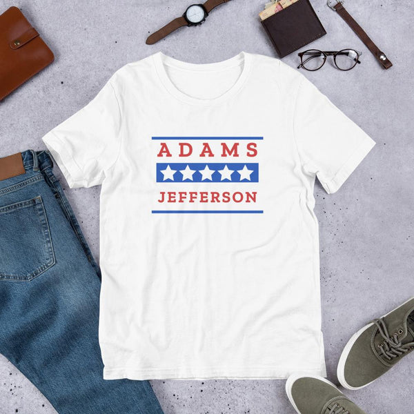 John Adams Shirt | Adams Jefferson History Buff Tee-Faculty Loungers