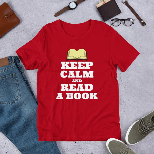 Keep Calm and Read a Book Unisex Shirt-Faculty Loungers