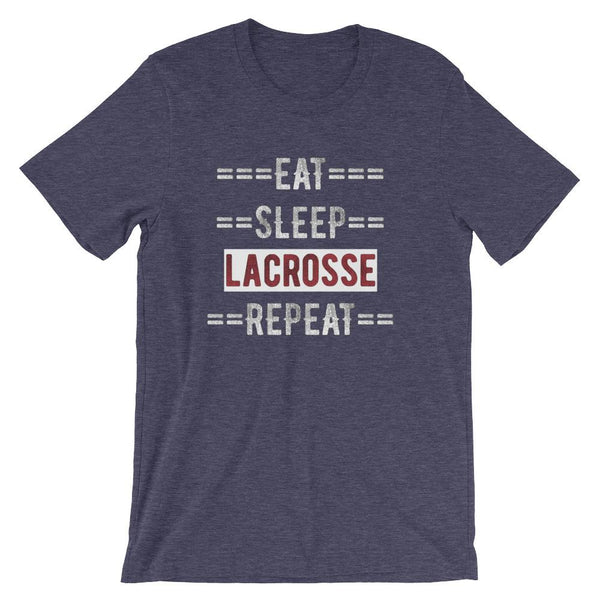 Lacrosse Coach Short-Sleeve Gift T-Shirt - Eat Sleep Lacrosse Repeat-Faculty Loungers