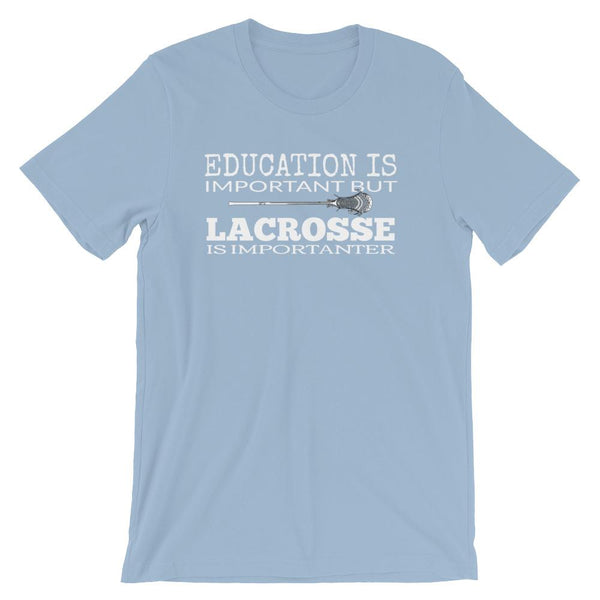 Lacrosse Coach Short-Sleeve Gift T-Shirt - Education vs LAX-Faculty Loungers