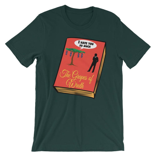 Literature Shirt - Grapes of Wrath - Book Humor-Faculty Loungers